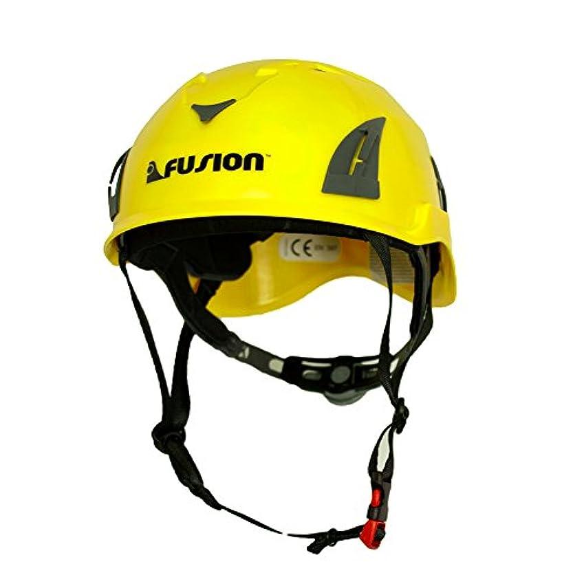 マット収縮マージバンジージップラインマウンテン建設安全保護ヘルメットイエロークライミングFUSION CLIMB Meka II