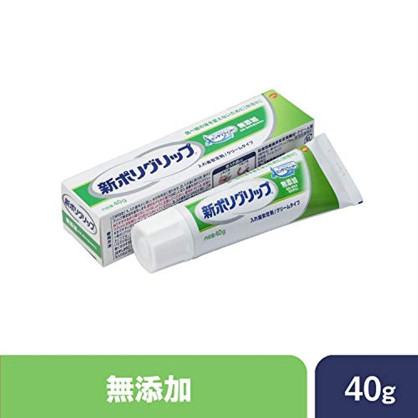 男性予見する同一性部分?総入れ歯安定剤 新ポリグリップ 無添加(色素?香料を含みません) 40g