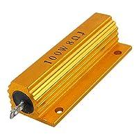DealMux製筐体がアルミハウジング巻線型抵抗、100W、8オーム、5%マウント