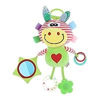 T TOOYFUL 吊りおもちゃ 布のぬいぐるみ ガラガラ ぶら下げおもちゃ ベビーカー装飾 おもちゃ 5色選択 - 鹿