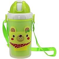 B Blesiya ストローカップ ウォーターボトル 水筒 子供用 マグボトル 可愛い プレゼント 全3色 - グリーンドッグ
