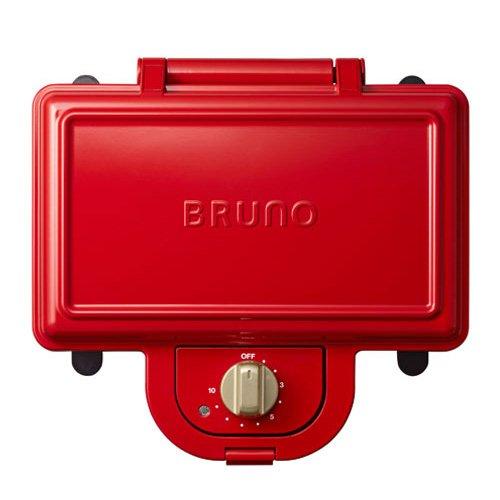 BRUNO ブルーノ ホットサンドメーカー ダブル BOE044-RD プレート取り外し可能 2枚焼き