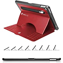ZUGU CASE - 2019 iPad Air 10.5/2017 iPad Pro 10.5 Inch Case Prodigy X - Very Protective but Thin with Convenient Magnetic Stand with Sleep/Wake Cover (Black) (Red)