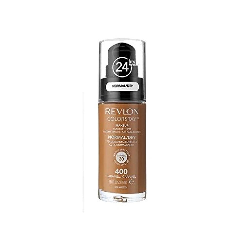 宿タブレットサドルレブロンの基礎通常の乾燥肌キャラメル x2 - Revlon Colorstay Foundation Normal Dry Skin Caramel (Pack of 2) [並行輸入品]