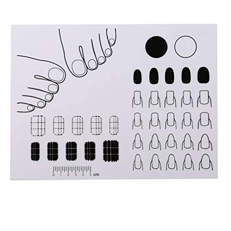 天才懸念学習LJSLYJ 折りたたみネイルアートシリコンパッドプレートスタンピングネイルアートステッカーuvジェルマニキュアツール印刷着色マット、1#