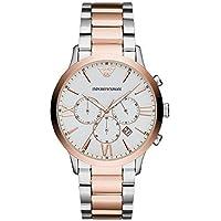 Emporio Armani Men's Quartz Watch chronograph Display and Stainless Steel Strap, AR11209