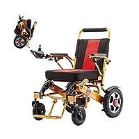 折り畳み式電動車椅子、軽量高齢者旅行車椅子 障害者インテリジェントオートスクーター アルミ合金