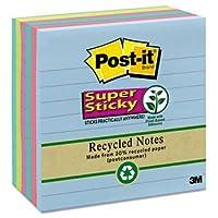 新しい–スーパー付箋、4x 4、裏地付き、5つTropic Breeze色、690-sheetパッド/パック–6756sst
