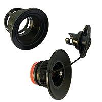 ブラックインフレータブルボートhalkey-roberts ( HR )タイプエアバルブ塗りつぶしとDeflateバルブFits for 12'インフレータブルSup