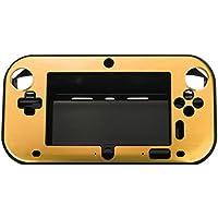 ニンテンドーWii Uゲームパッドコントローラケース,SODIAL(R)新しいハードアルミスキンカバーケース 任天堂Uゲームパッド リモートコントローラー ゴールド