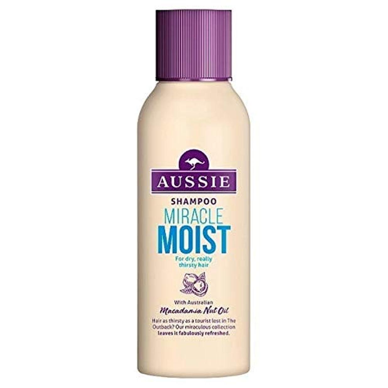 上院アジア銀行[Aussie ] 乾いた、のどが渇い毛90ミリリットルのためのオーストラリアの奇跡しっとりシャンプー - Aussie Miracle Moist Shampoo For Dry, Thirsty Hair 90ml...