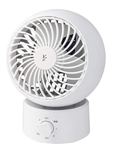 【Amazon.co.jp限定】山善 扇風機 15cm サーキュレーター ダイヤルスイッチ 風量3段階調節 静音モード搭載 ホワイト AAS-W15(W)