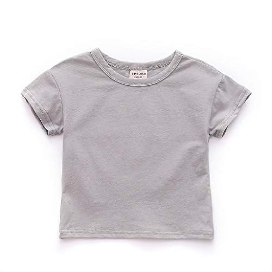 純粋にキャベツエンコミウム子供の赤ちゃんのユニセックス半袖ソリッドカラーのラウンドネックTシャツソフト通気性シャツ