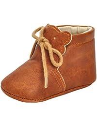 B Baosity ベビーシューズ 女の子 トレーニングシューズ PUレザー ベビー靴 全3サイズ