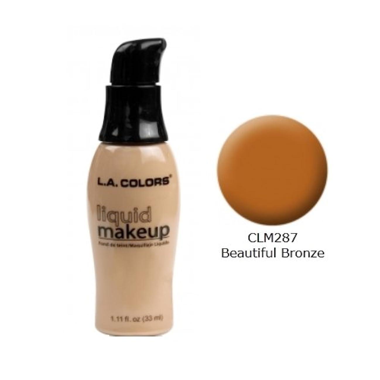 サポート三無謀(3 Pack) LA COLORS Liquid Makeup - Beautiful Bronze (並行輸入品)