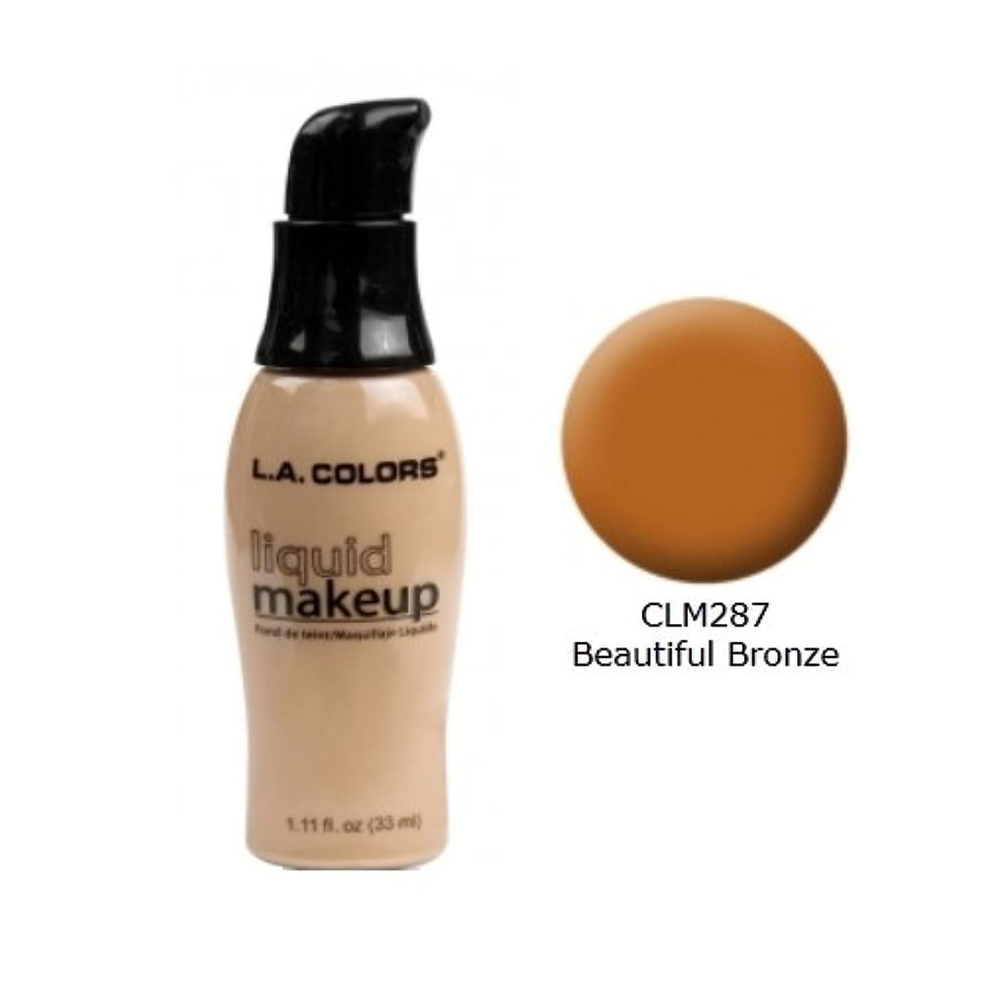 最大の島決済(3 Pack) LA COLORS Liquid Makeup - Beautiful Bronze (並行輸入品)