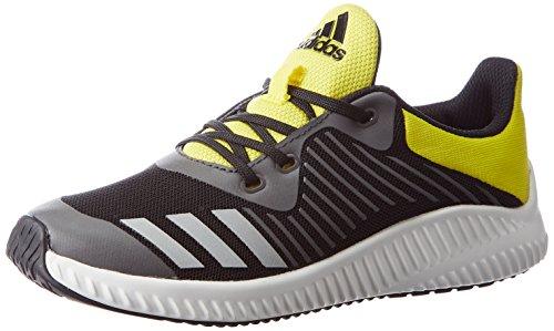 [アディダス]運動靴 KIDS FortaRun K コアブラック/シルバーメット/ブライトイエロー...