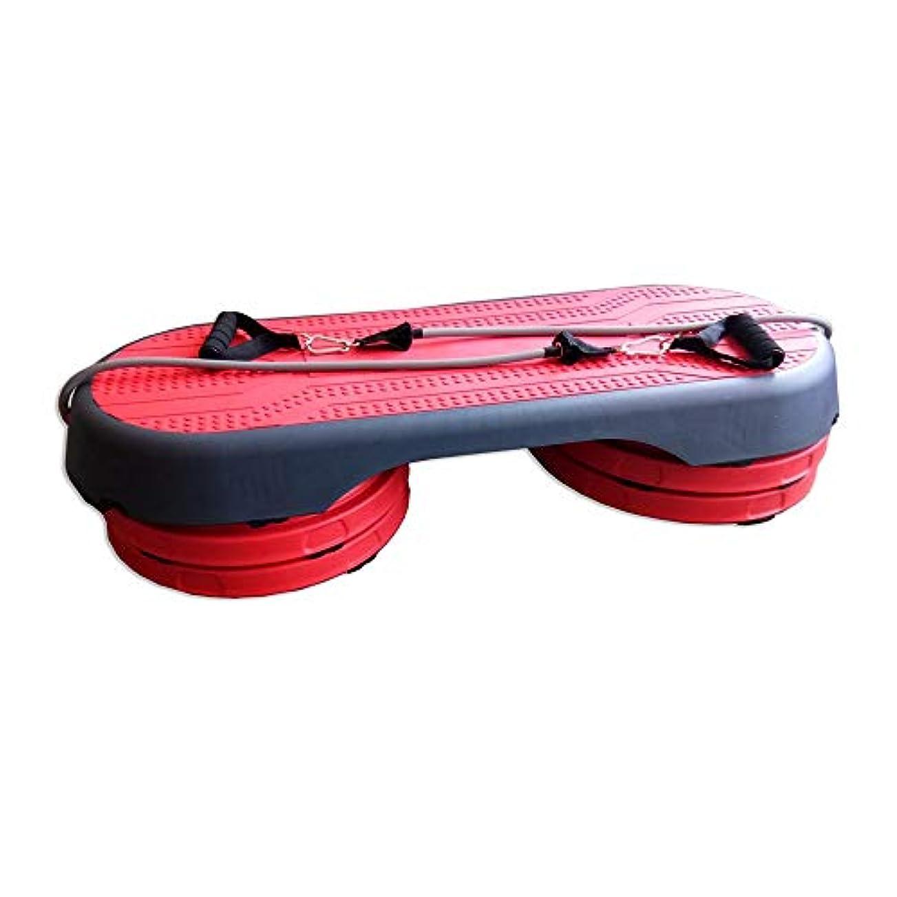 小さい反動学期ステップ台 有酸素運動ステッパー3レベル調節可能なフィットネスワークアウトヨガピラティスホームフィットネスジムのステップライズブロック 軽量で用途が広い (色 : 赤, Size : 107cm)