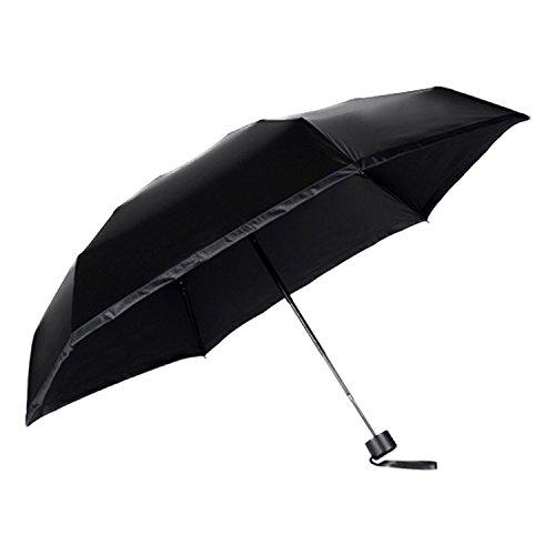 MRG nano Umbrella 世界最小 折りたたみ傘 晴雨兼用 耐風仕様 スマホサイズ 軽量 195g 収納ケース付 (ブラック)