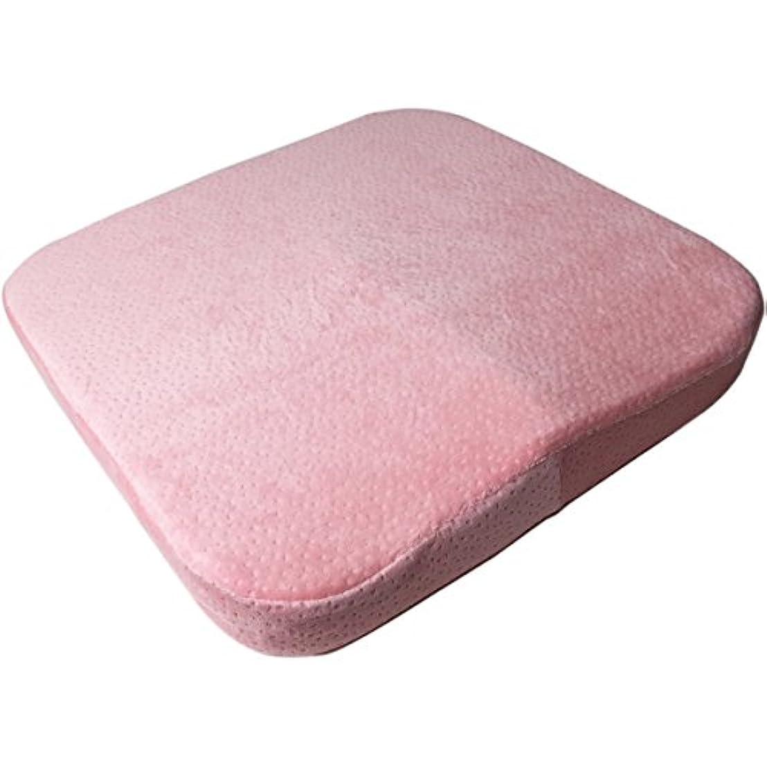 なめる例示する修正するBanane D'or 車椅子用 低反発 クッション 立体成型 車いす 座布団 洗えるカバー (ピンク)