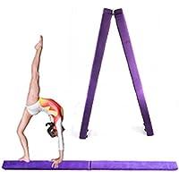 Onepackジムバランスビーム – 7 ftパープル折りたたみ木製Core for Donkey Kicks/Handstands、ジャンプ、Leaps
