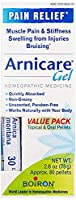 Boiron Arnicare Gel Value Pack, 2.6 Ounce Gel + 80 Pellet Tube, Homeopathic Medicine for Pain Relief [並行輸入品]