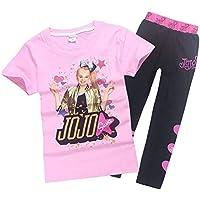 Lumiery Girls JoJo Siwa Print Cartoon T Shirt+Trousers Children Casual Set 2pcs