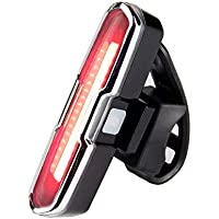 Hefo 自転車 テールライト USB充電LEDライト 防水 5点灯モード 夜間走行の視認性をアピール 簡単装着