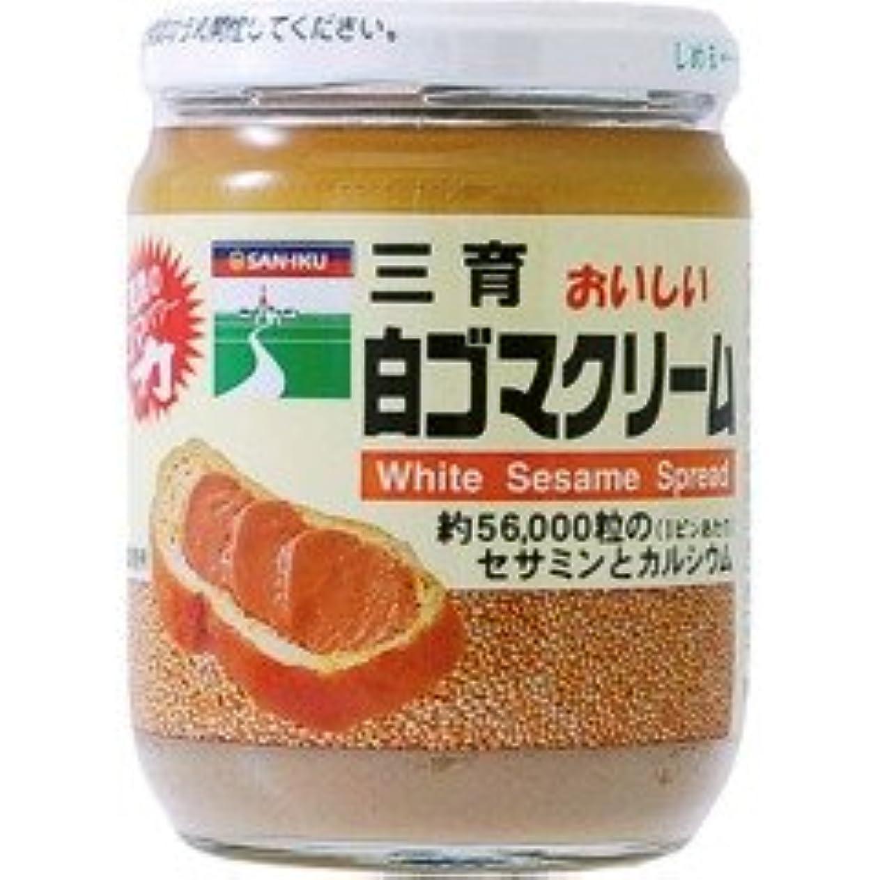 氏照らすバッチ〔ムソー/三育〕白ゴマクリーム190g 6セット