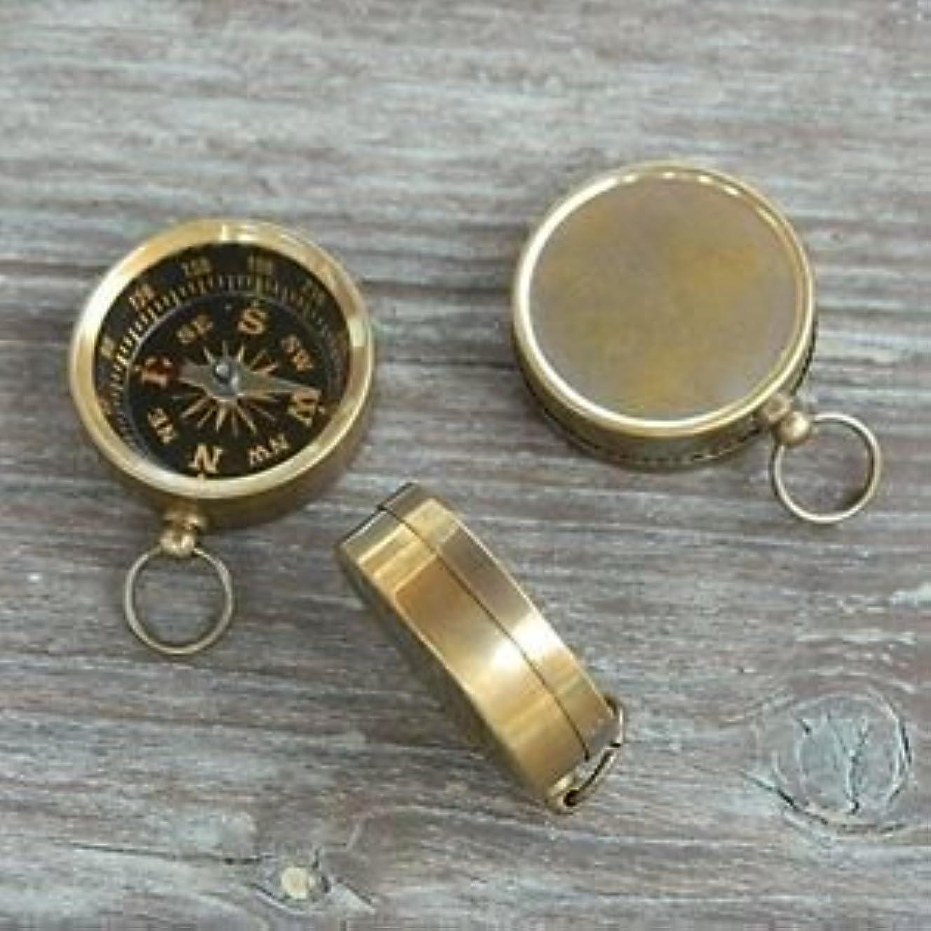 砂ジャズ段階Antiqued Brass Compass 1.5 mini Pocket Compass Nautical Marine by NAUTICALMART