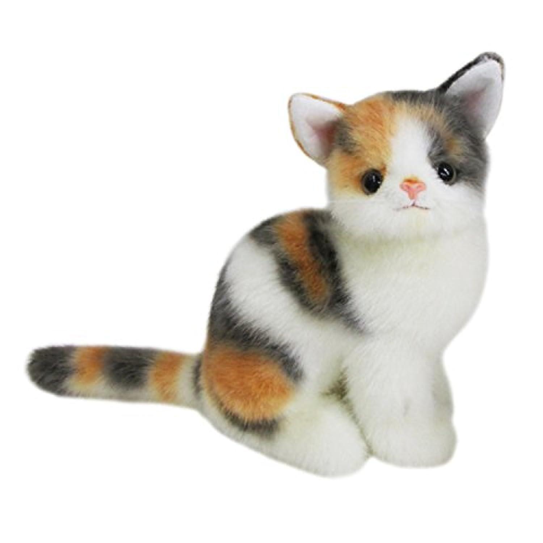 グレイスフル ネコ (日本製) ミケ 座り ぬいぐるみ 全長23cm