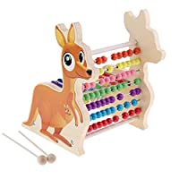 KESOTO 3カラー 木琴 学習そろばん ナンバーブロック ウッド製 おもちゃ - カンガルー