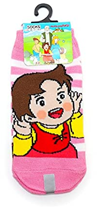 【アルプスの少女ハイジ】キッズソックス・靴下(ハイジボーダー) 約13~18cm HJ05