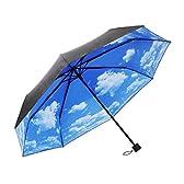 紫外線 UVカット で 肌にやさしい 青空 傘 折りたたみ傘 UPF50+ 男女兼用 約55cm 日傘 雨傘 晴雨兼用