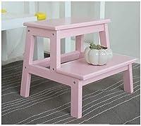 子供のステップスツールバスルーム、子供のための木製のスツール、マーサスツール、ベンチ靴、アダルトステップスツール。キッチン手順アウェイ倍 (Color : D)