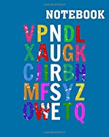 Notebook: nurse in the alphabet - 50 sheets, 100 pages - 8 x 10 inches