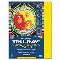 Recycled Fade-Resistant Construction Paper, 76 , 23cm x30cm , Yellow, 50/Pack PAC103004