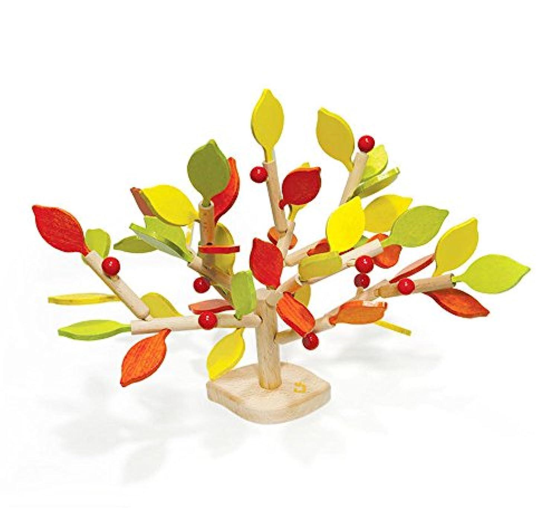 韓国PoppingツリーToys図形と色Stackingペグボード – 手作り木製玩具をkids-環境に優しい
