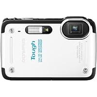 OLYMPUS デジタルカメラ STYLUS TG-625 ホワイト 1200万画素 裏面照射型CMOS 防水5m 耐落下衝撃1.5m 耐低温-10℃のタフ性能 光学5倍ズーム iHSテクノロジー 3.0型LCD 広角28mm TG-625 WHT