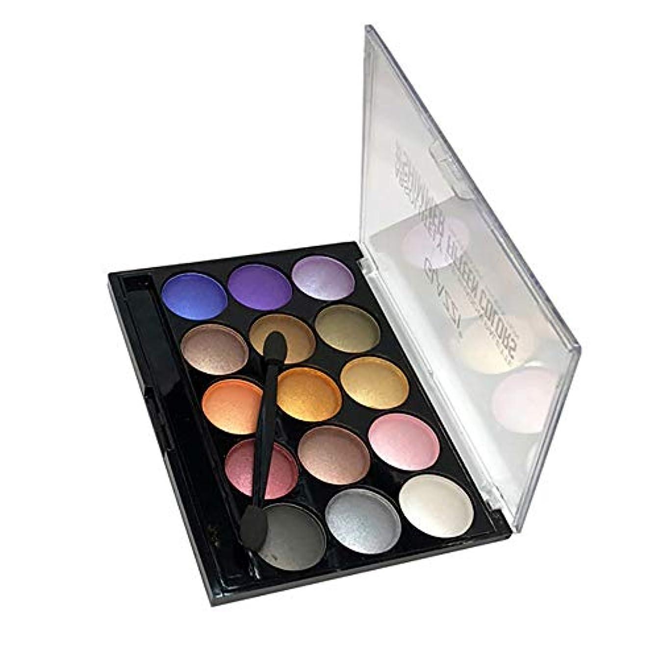 メロン豊かな葉を集める化粧品メイクアップシマーマット15色アイシャドーパレットソンブラ