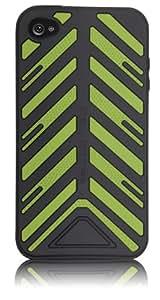 "Case-Mate 日本正規品 iPhone 4 Vroom ""Torque"" Case with Screen Protector, Black/Green ブルーム ""トルク"" シリコンケース (液晶保護シート つき) ブラック/グリーン CM011808"