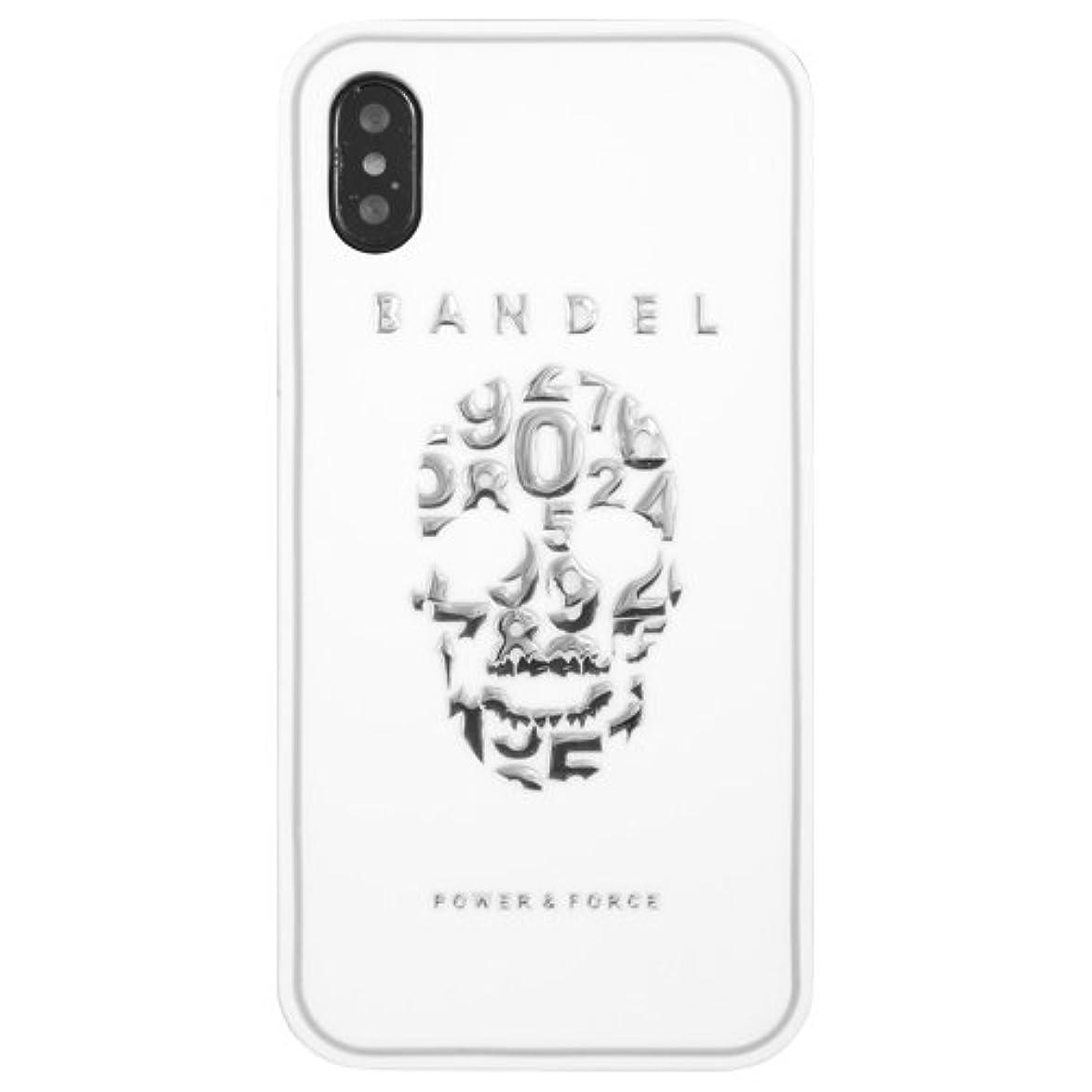精緻化腐った発行するバンデル(BANDEL) スカル iPhone X専用 シリコンケース [ホワイト×シルバー]