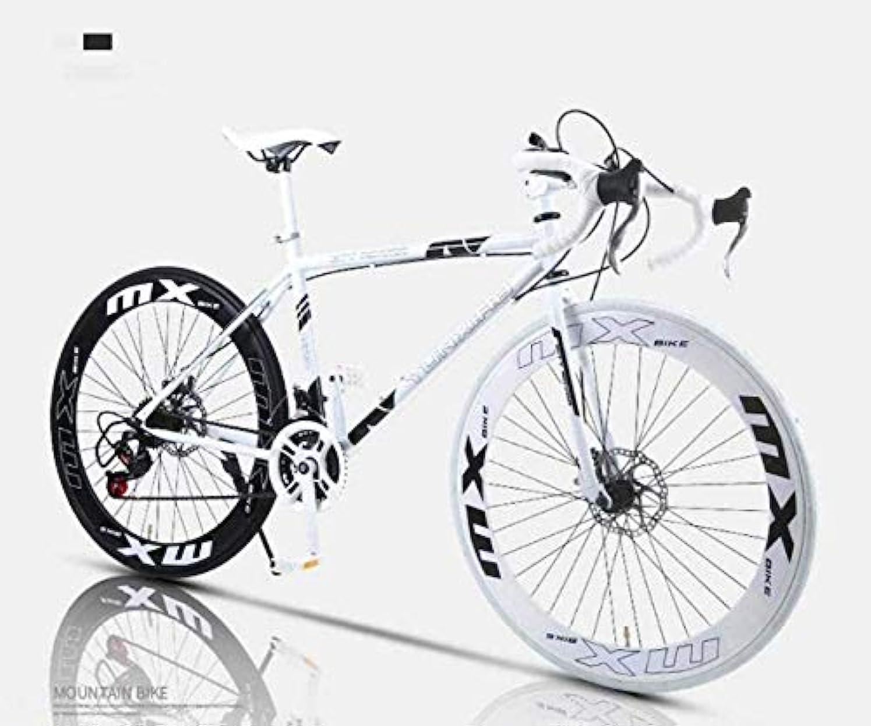 コードレス綺麗なはしご旅行利便通勤 - ロード自転車、24スピード26インチバイク、ダブルディスクブレーキ、高炭素鋼フレーム、高度なライダーや初心者のための適切な道路の自転車レーシング、