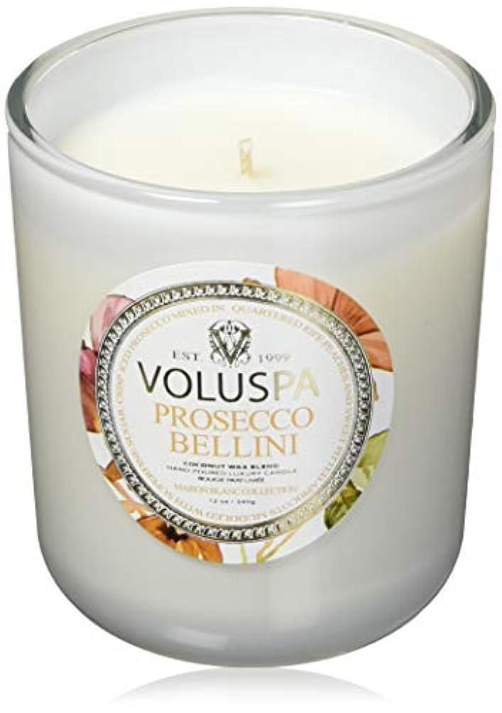 頬骨糸思想VOLUSPA メゾンブラン ボックスイリグラスキャンドル Prosecco Bellini プロセッコベッリーニ MAISON BLANK GLASS CANDLE ボルスパ