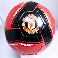 Handsewn Futbol Soccer Ball - Red with White Spots - Manchester United Logo