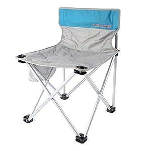 コロロ(CORORO)アウトドアチェア キャンプチェア 破れない 高強度 折りたたみ椅子 1680D ジュラルミンパイプ 耐荷重180kg バック・サイドにポケット一枚ずつ オックス布に中綿入り 防水 軽量 キャンプ用品 収納袋あり 組み立て不要 (シルバー)