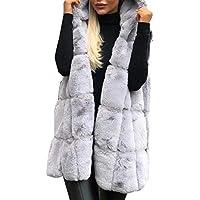 Women's Luxury Sleeveless Faux Fur Vest Coat Fur Coat Jackets Warm Fur Vest