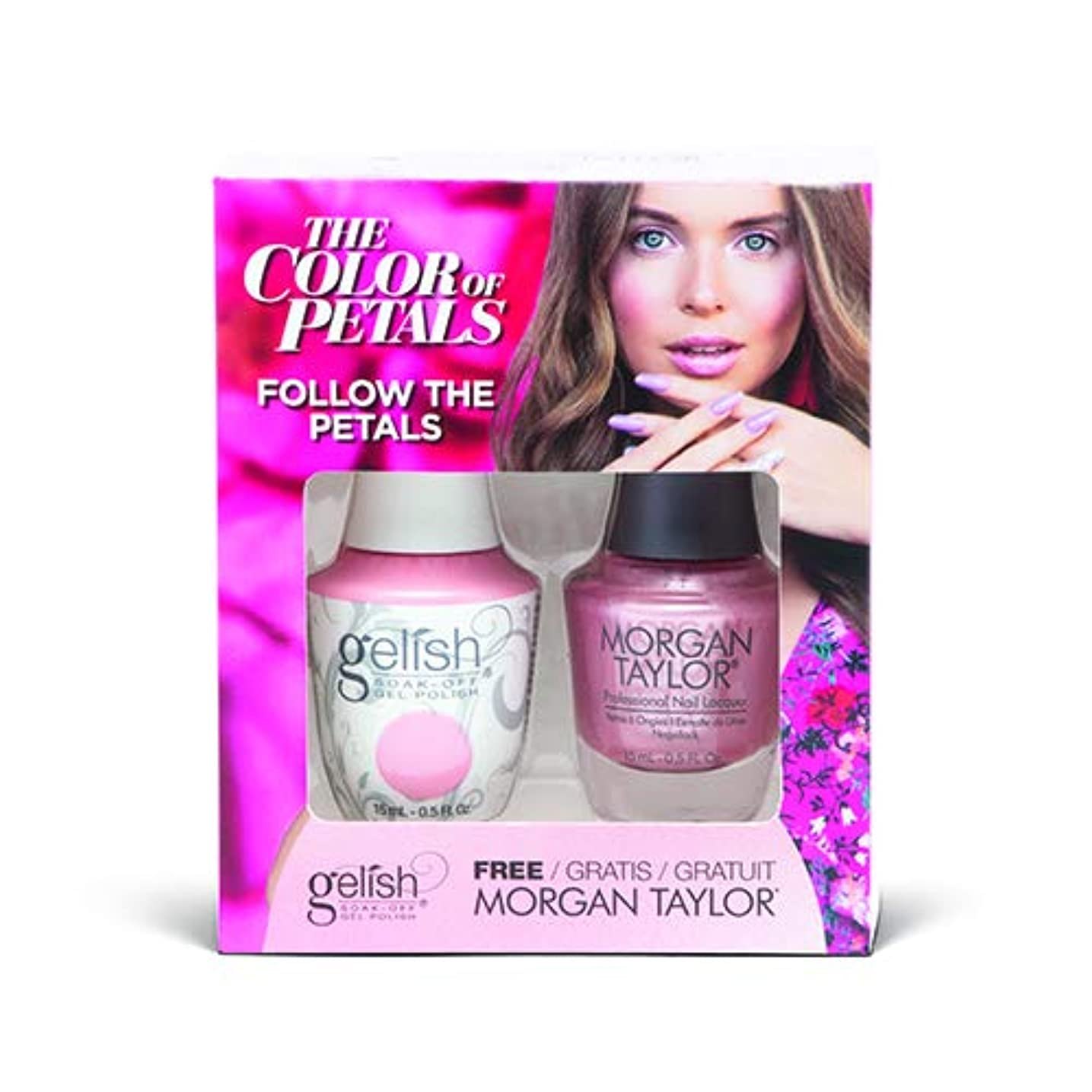 マーベル費やす浜辺Harmony Gelish - Two Of A Kind - The Color Of Petals - Follow The Petals - 15 mL / 0.5 Oz