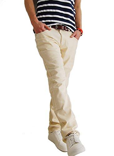 (アーケード) ARCADE メンズ ストレッチ チノパンツ スキニー かつらぎ パンツ チノパン 79 オフホワイト
