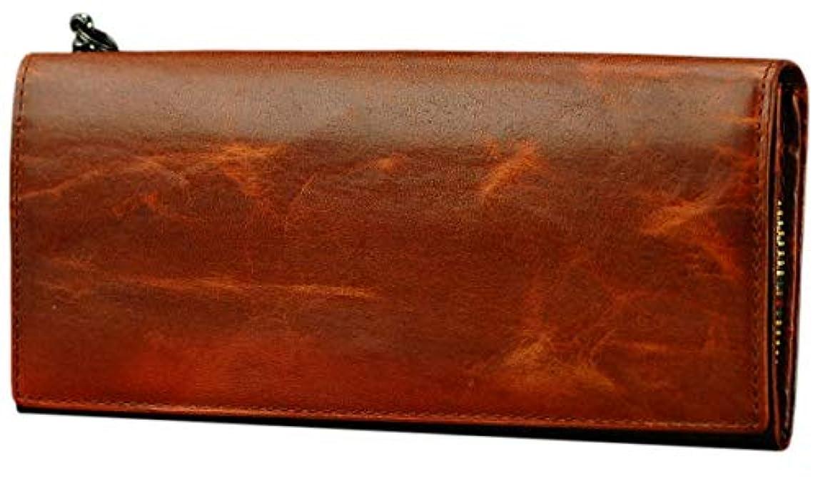 再撮り追放するサラミソラチナ SOLATINA 長財布 ホースレザー焦がし加工シリーズ SW-38152 メンズ